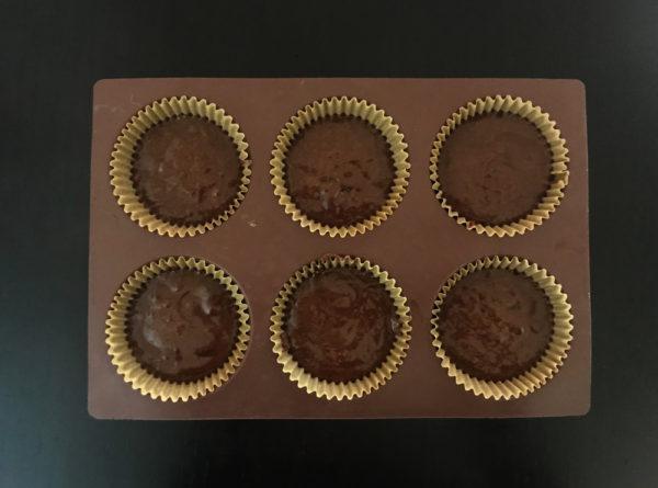 ガトーショコラをマフィン型で焼く 焼く前