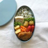 子供が喜ぶ 簡単キャラ弁 妖怪弁当 ぬりかべ高野豆腐べんとう 中学生のお弁当