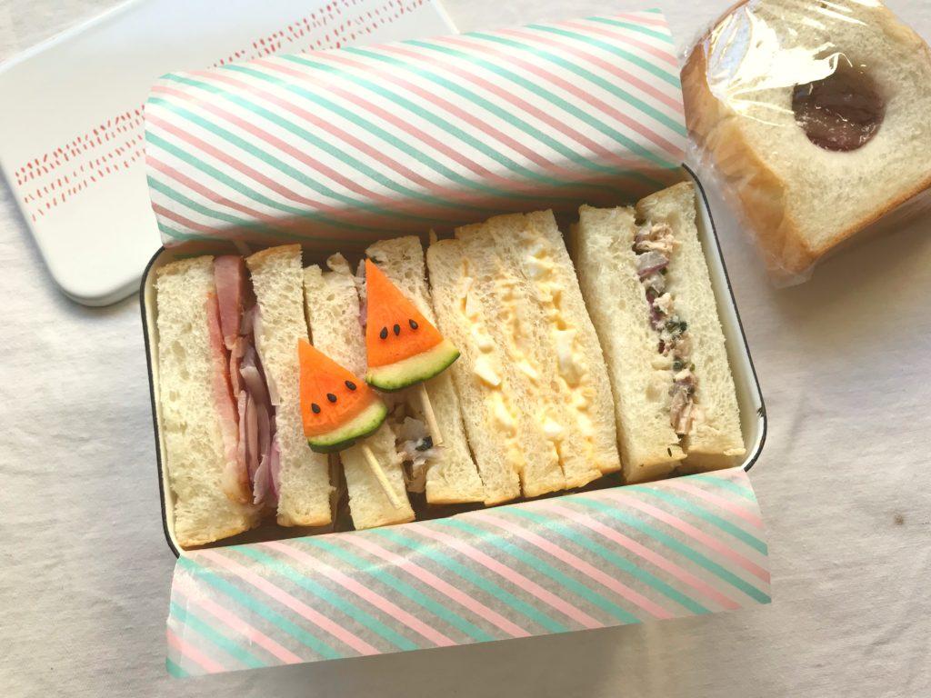 中学生のおべんとう 昔ながらのサンドイッチべんとう